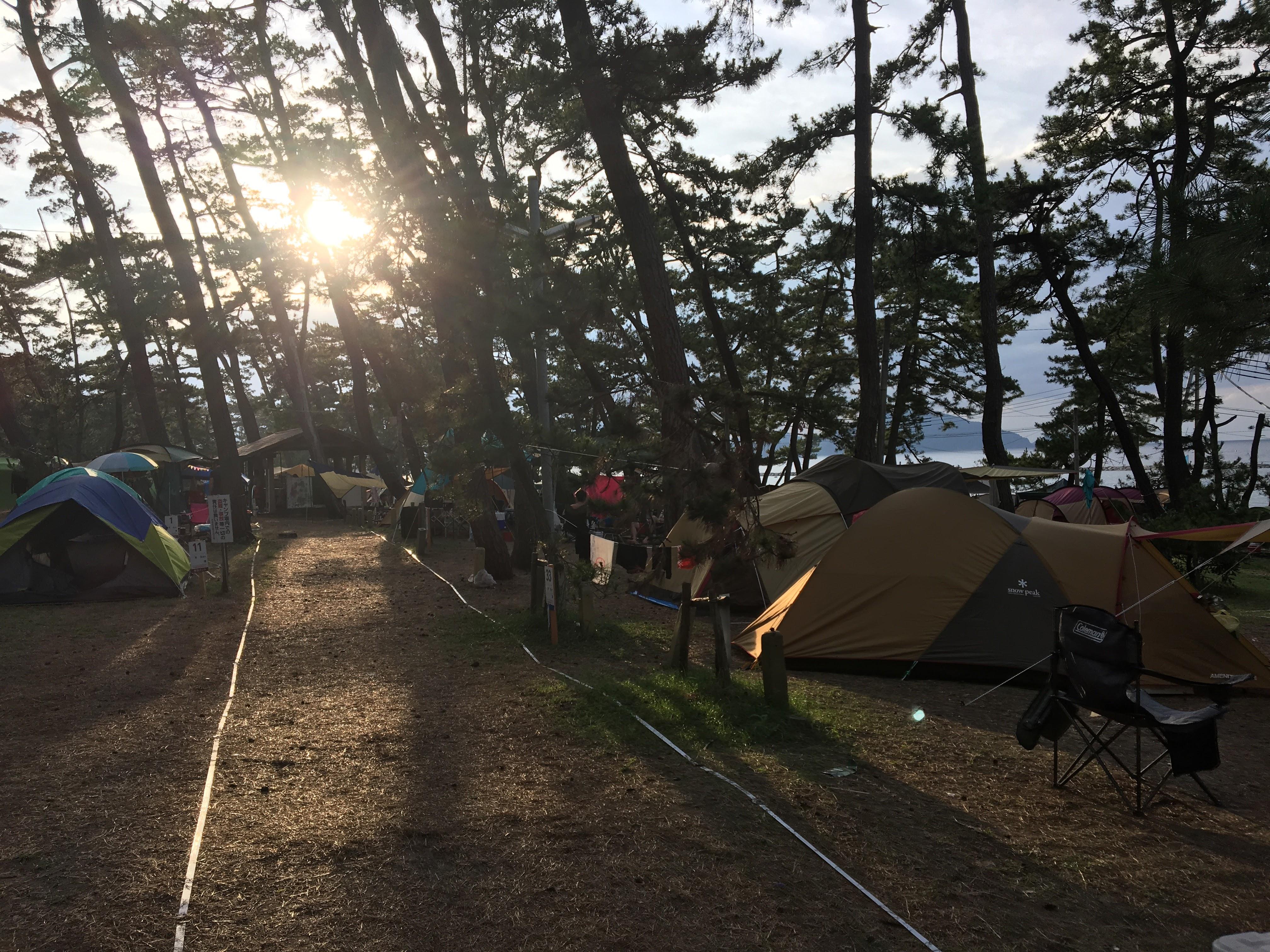 若狭和田キャンプ場。海水浴&ファミリーフィシング(キス釣り)&BBQの詰め込みキャンプ!